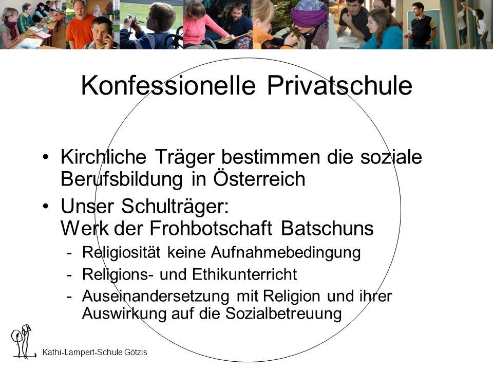 Kathi-Lampert-Schule Götzis Kosten der Ausbildung Durch die Unterstützung der Vbg.