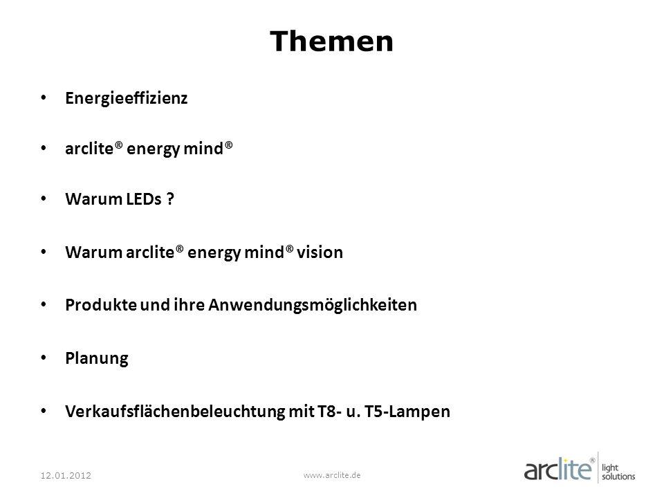 Energieeffizienz arclite® energy mind® Warum LEDs .