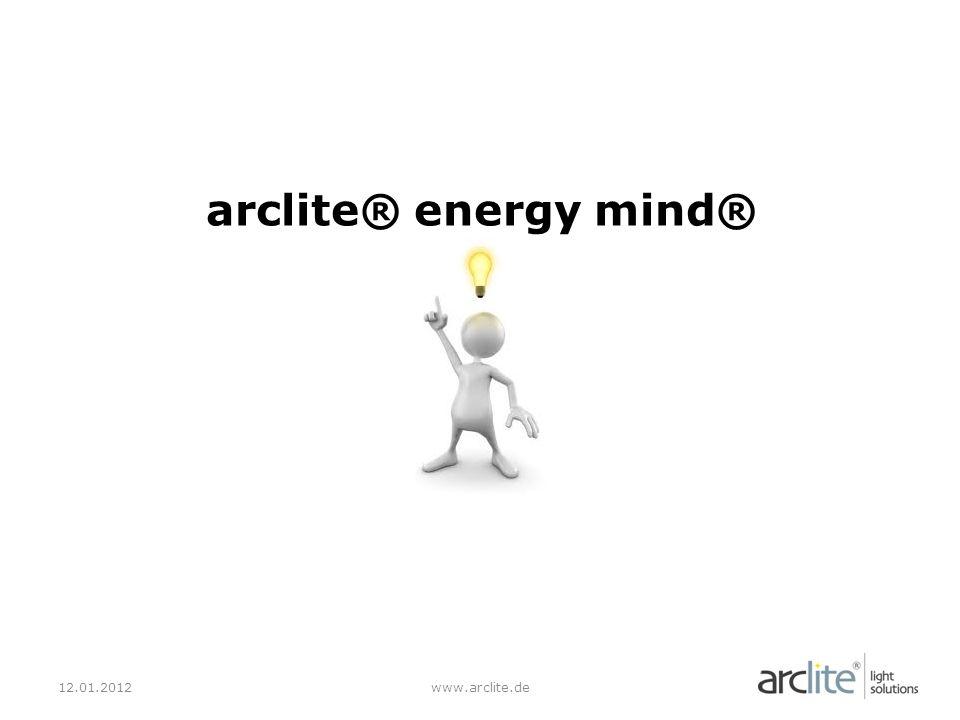 Die Produkte 12.01.2012www.arclite.de energy mind® Vision