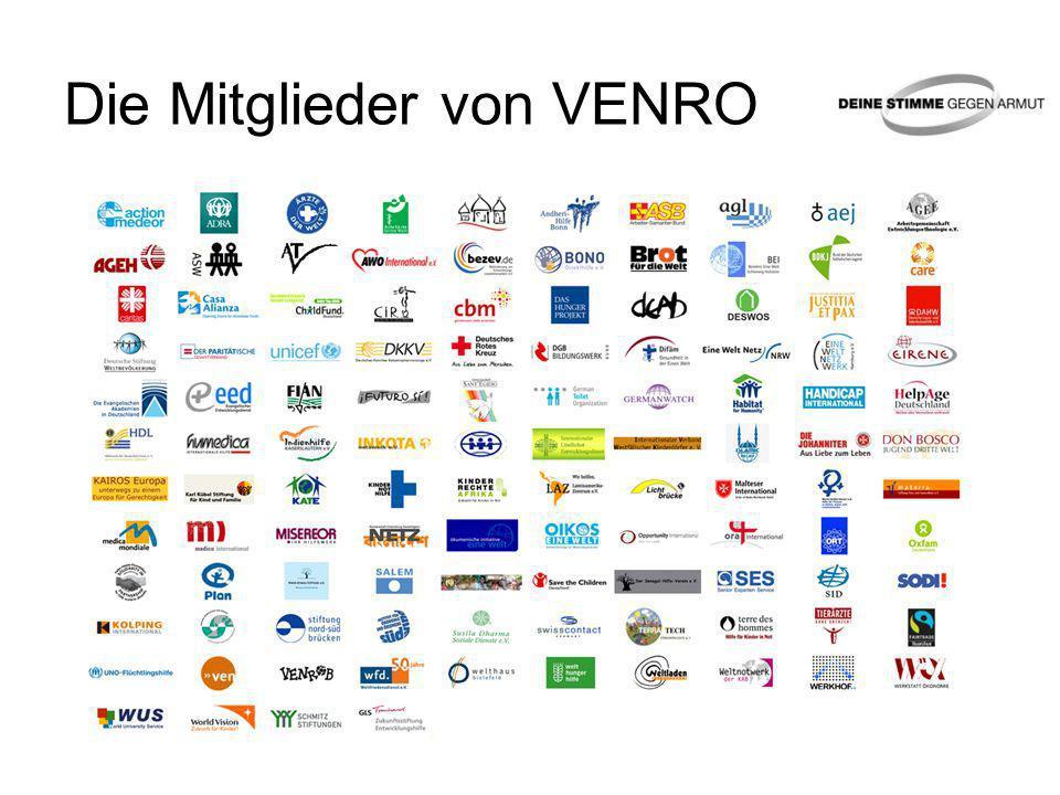 Die Aktion DEINE STIMME GEGEN ARMUT Gemeinsame Aktion von VENRO & Herbert Grönemeyer Deutscher Beitrag zum Global Call to Action against Poverty (GCAP) Weltweites Symbol: Weißes Band