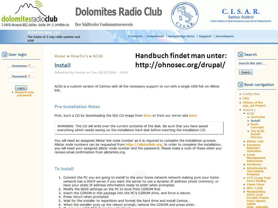 Handbuch findet man unter: http://ohnosec.org/drupal/