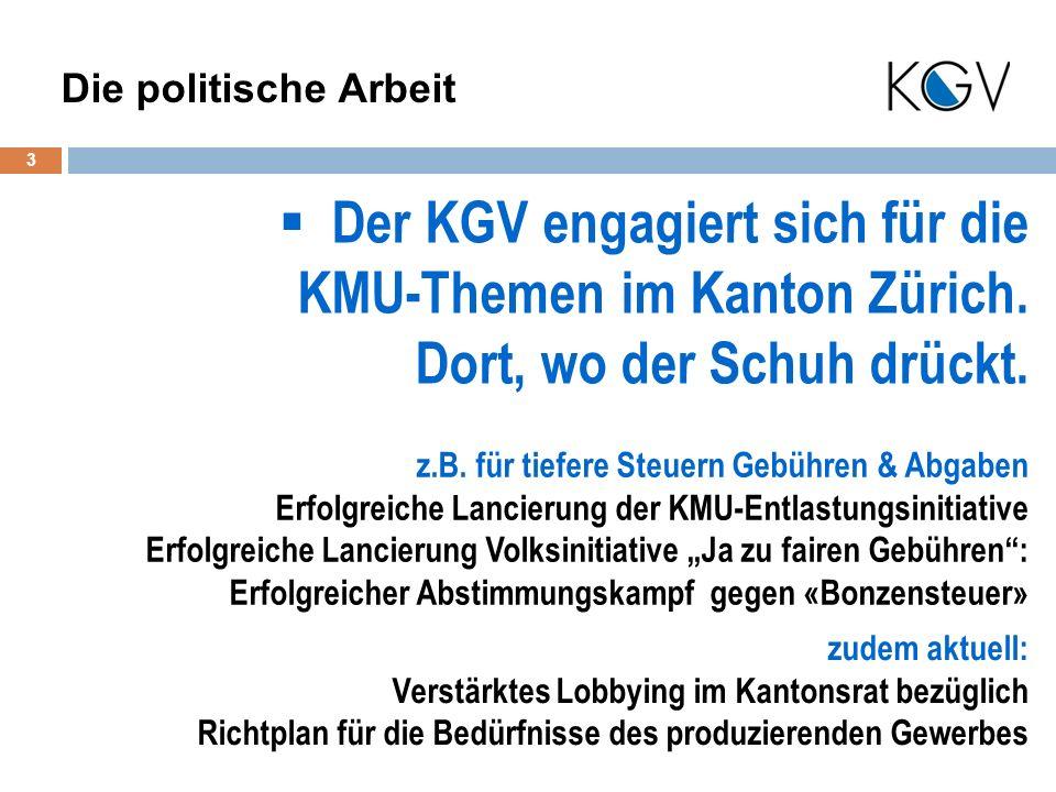 Der KGV engagiert sich für die KMU-Themen im Kanton Zürich.