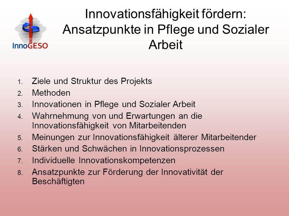 Innovationsfähigkeit fördern: Ansatzpunkte in Pflege und Sozialer Arbeit 1.
