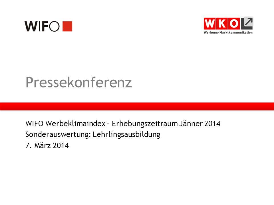 Pressekonferenz WIFO Werbeklimaindex – Erhebungszeitraum Jänner 2014 Sonderauswertung: Lehrlingsausbildung 7.