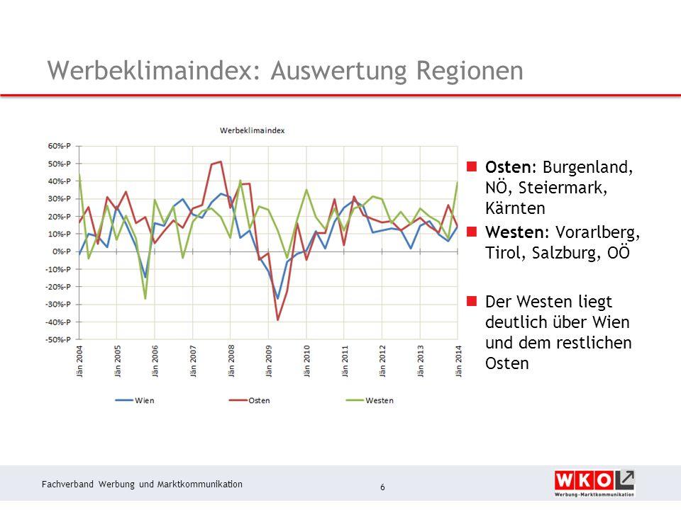 Fachverband Werbung und Marktkommunikation Nachfrage in den letzten drei Monaten 7 Nachfrageentwicklung war im 4.