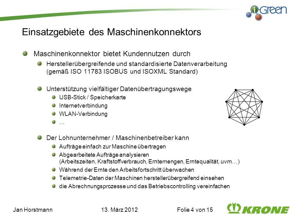 Einsatzgebiete des Maschinenkonnektors Maschinenkonnektor bietet Kundennutzen durch Herstellerübergreifende und standardisierte Datenverarbeitung (gem