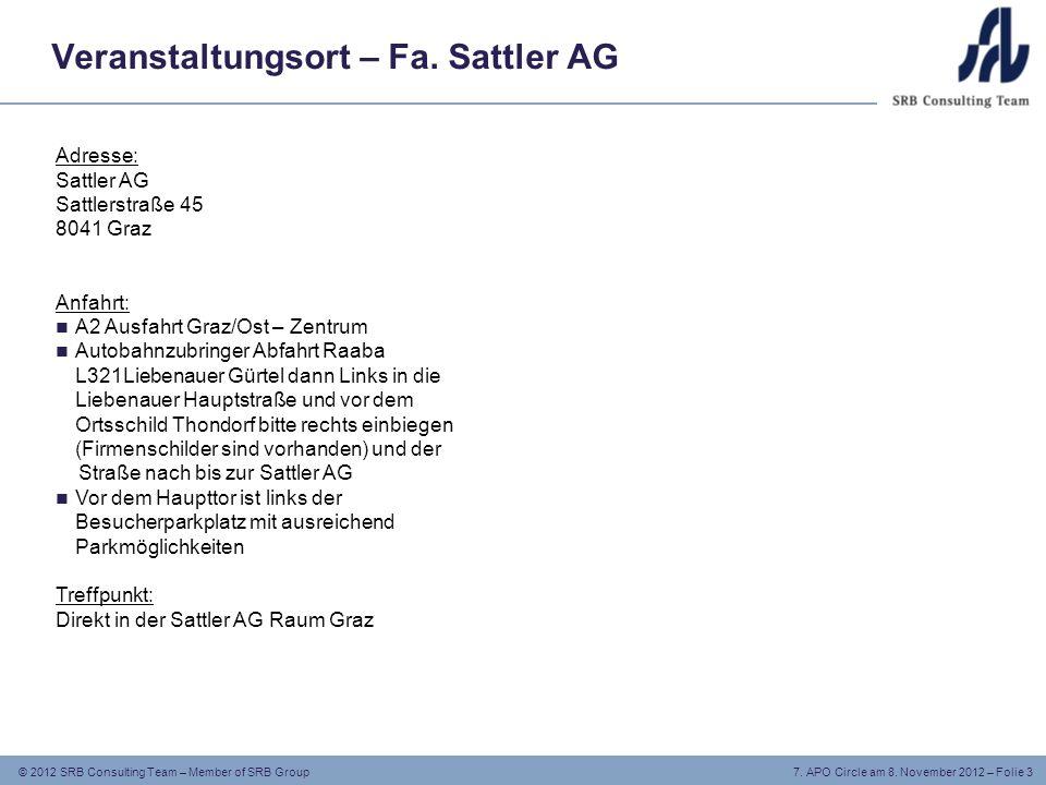 © 2012 SRB Consulting Team – Member of SRB Group 7.