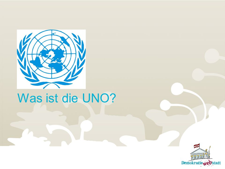 Was bedeutet die Abkürzung UNO.