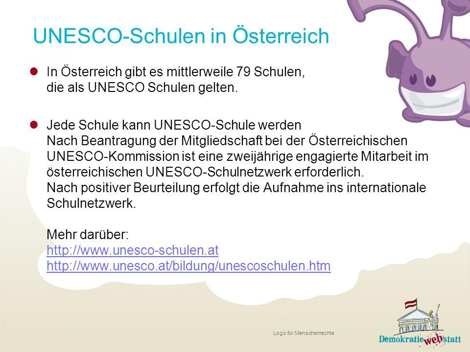 In Österreich gibt es mittlerweile 79 Schulen, die als UNESCO Schulen gelten. Jede Schule kann UNESCO-Schule werden Nach Beantragung der Mitgliedschaf