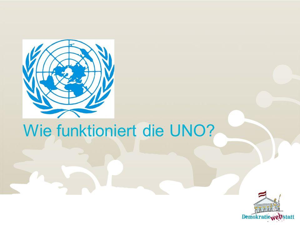 Wie funktioniert die UNO?