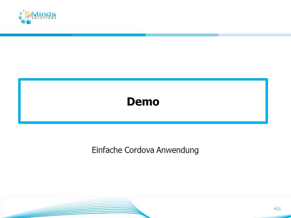 #21 Demo Einfache Cordova Anwendung