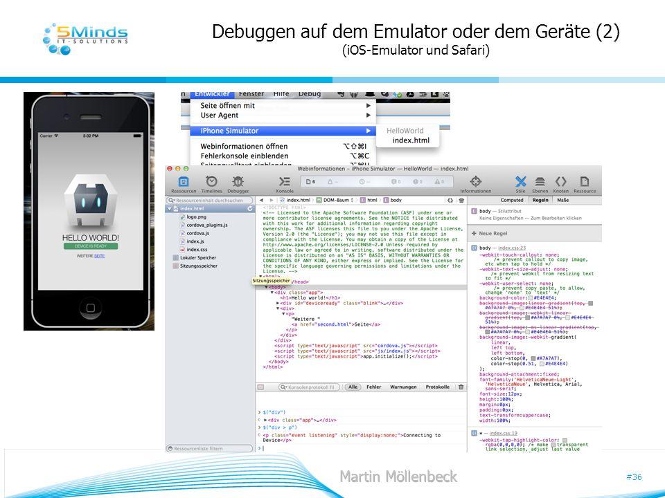 #36 Debuggen auf dem Emulator oder dem Geräte (2) (iOS-Emulator und Safari)