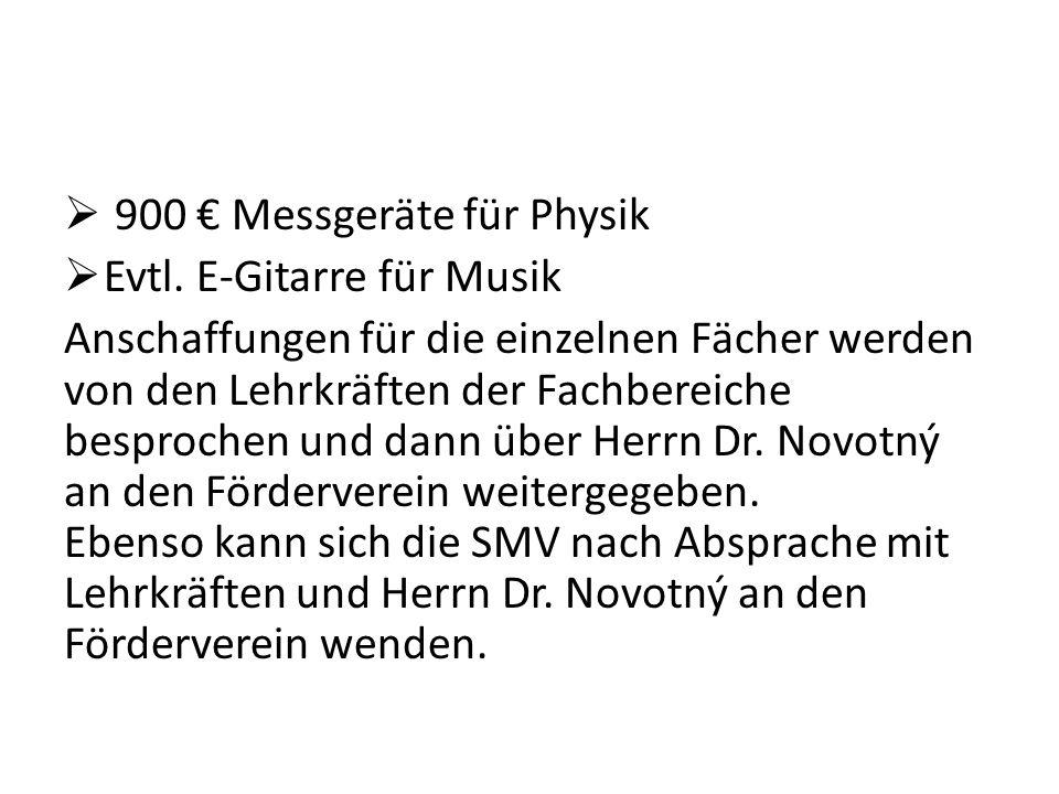 900 Messgeräte für Physik Evtl.
