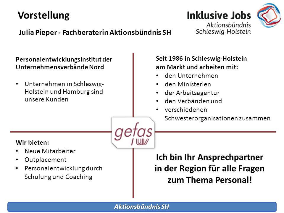 Aktionsbündnis SH Vorstellung Personalentwicklungsinstitut der Unternehmensverbände Nord Unternehmen in Schleswig- Holstein und Hamburg sind unsere Ku