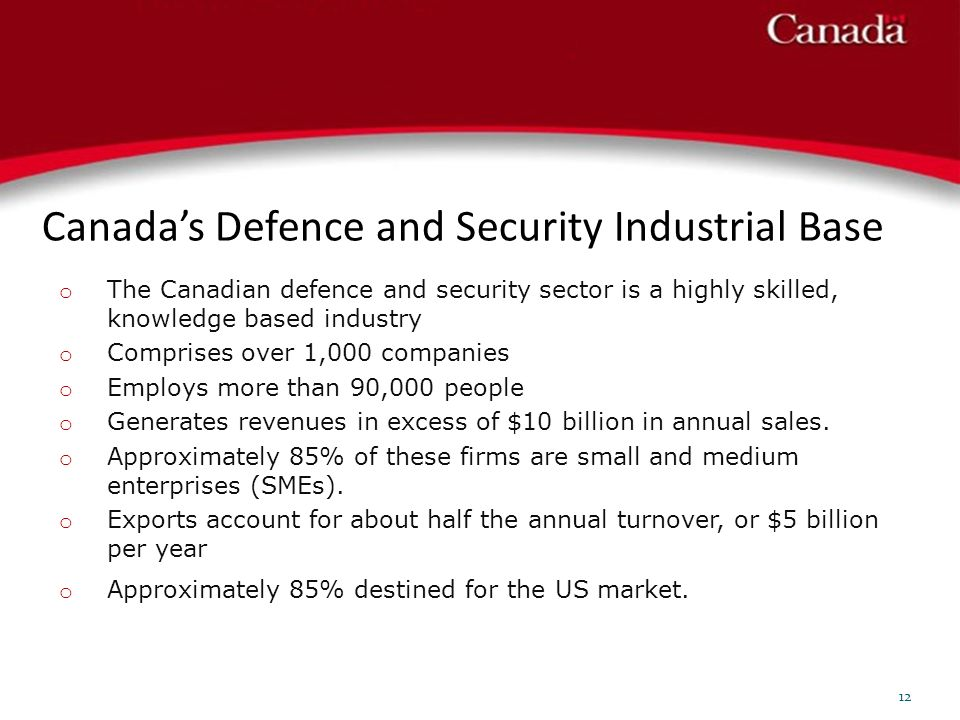 Canadas Defence and Security Industrial Base 12