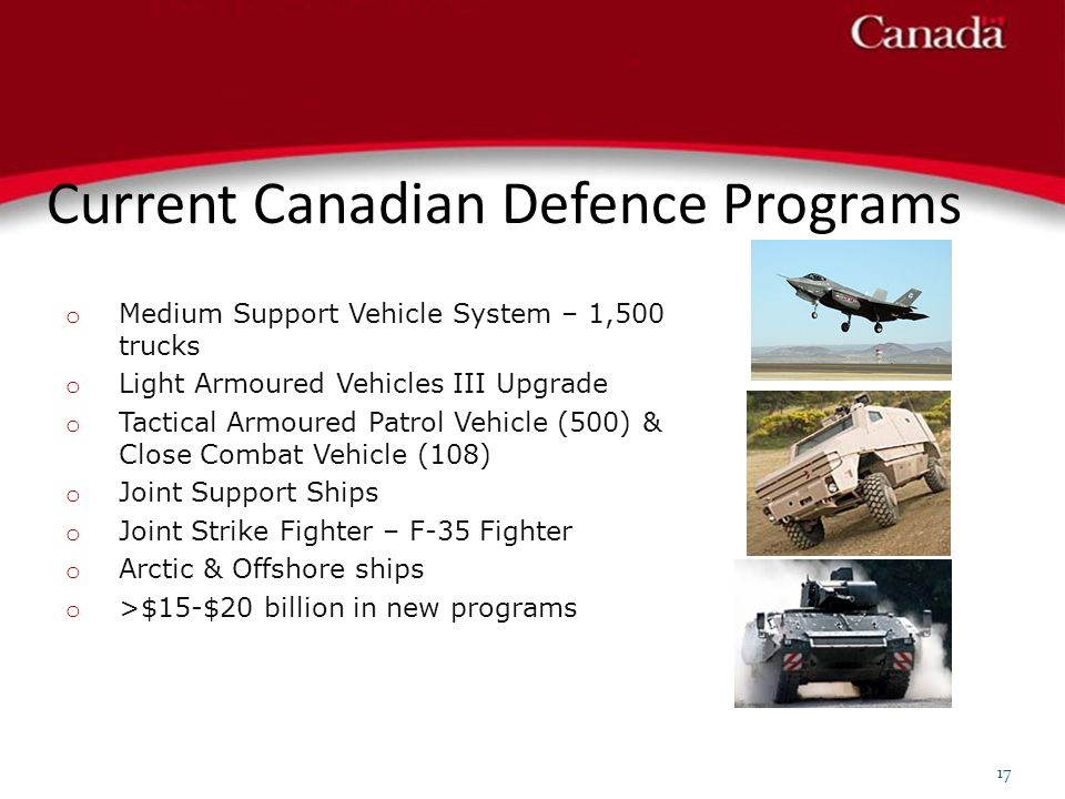 Current Canadian Defence Programs 17