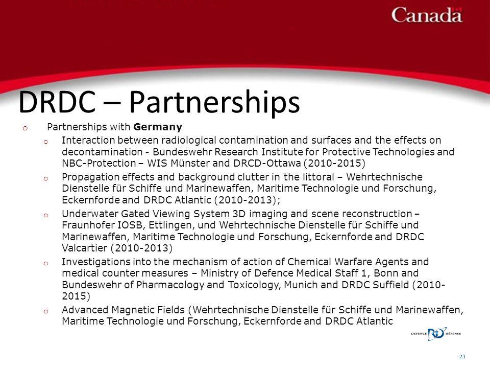 DRDC – Partnerships 21