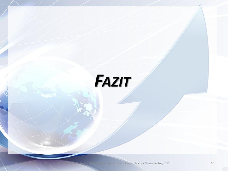 F AZIT Dienstag, 04.06.2013© Sven Peters, Sabur Rahimsay, Marvin Prochnow, Nadja Wansiedler, 201348