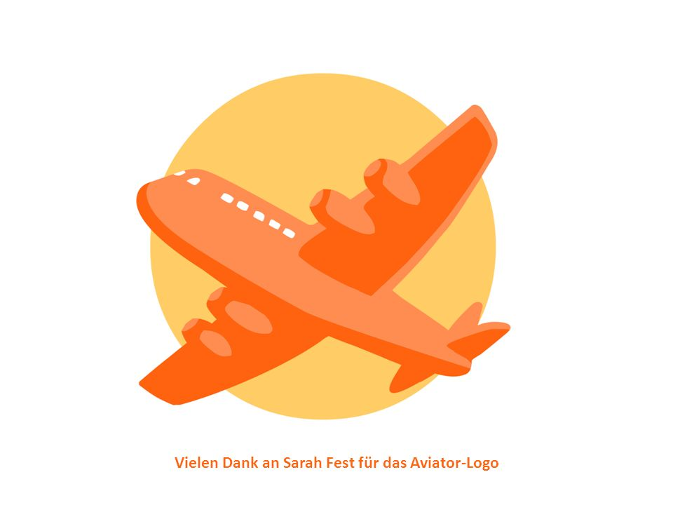 Vielen Dank an Sarah Fest für das Aviator-Logo