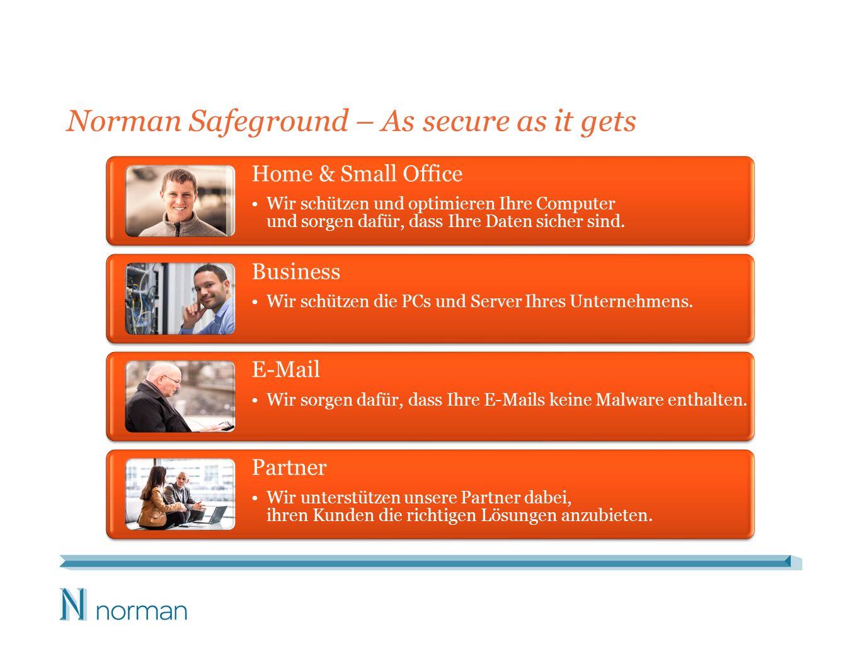 Norman Safeground Business-Lösungen Endpoint Protection – Mittlere Unternehmen mit PCs, Notebooks und Servern benötigen Lösungen, die alle Endpoints schützen.