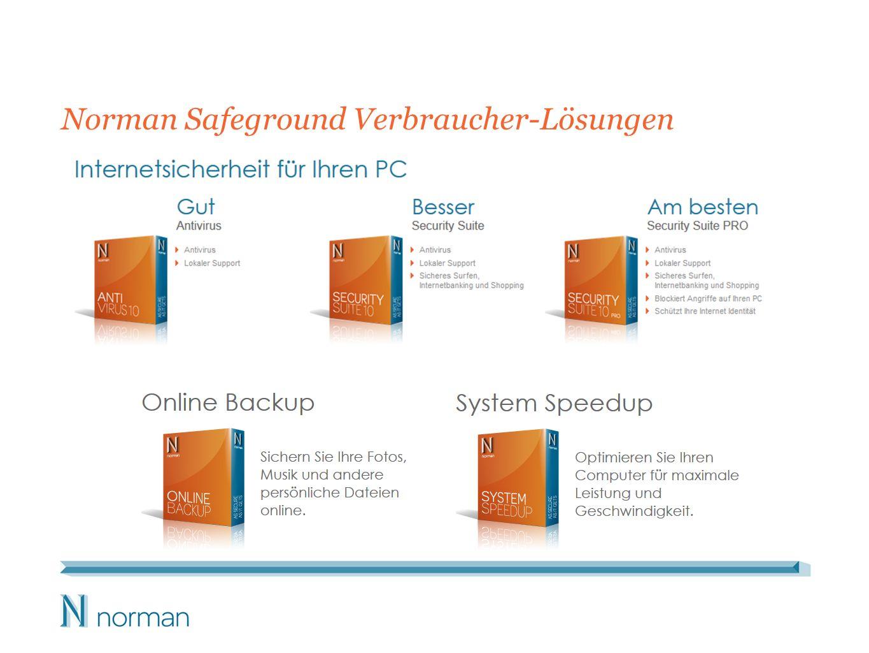 Norman Safeground Verbraucher-Lösungen