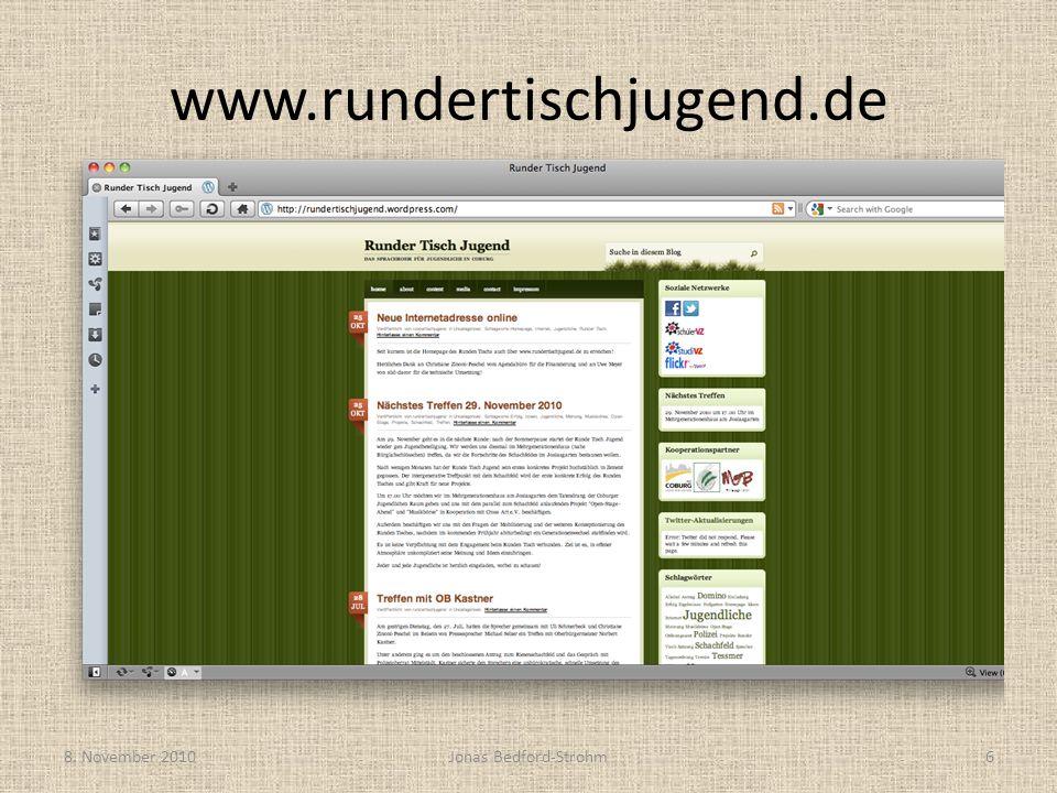 www.rundertischjugend.de 8. November 2010Jonas Bedford-Strohm6