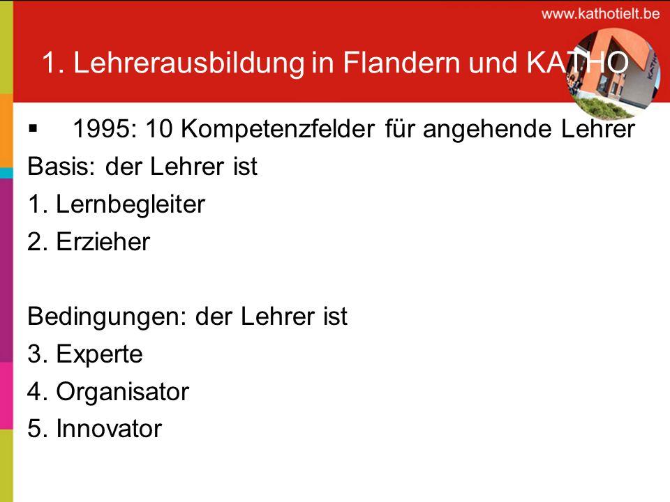1.Lehrerausbildung in Flandern und KATHO Partner: 6.
