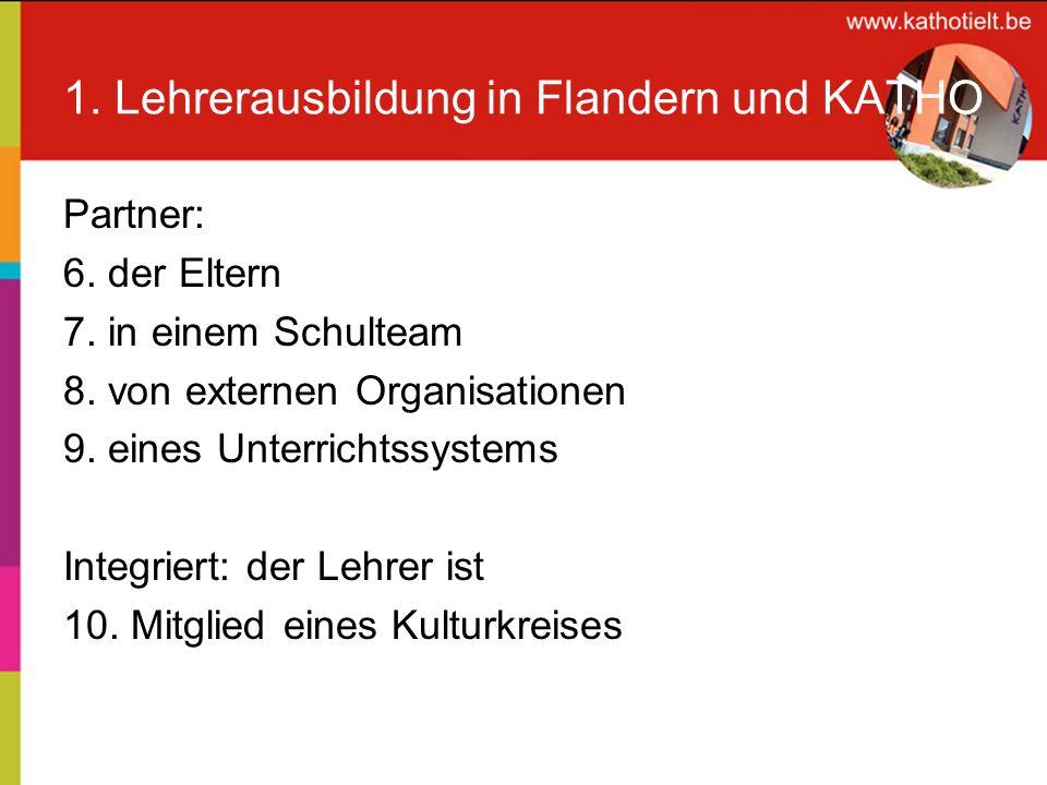 1. Lehrerausbildung in Flandern und KATHO KATHO Tielt: unser Ausbildungsmodell