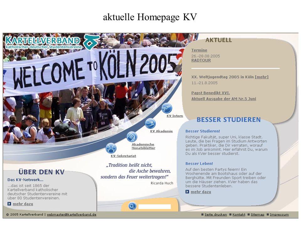 aktuelle Homepage KV