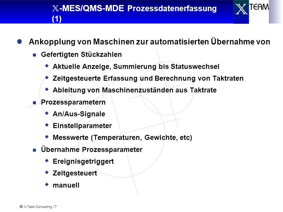 X-Team Consulting / 8 X -MES/QMS-MDE Prozessdatenerfassung (2) PC X -MES/MDE Messmittelbox Waage...