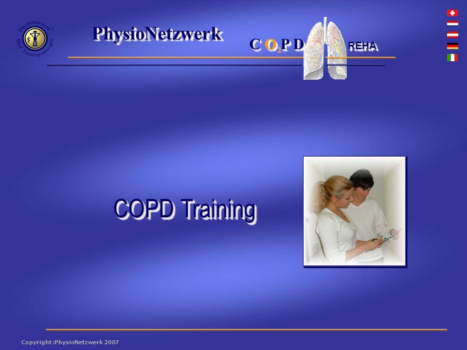 ® PhysioNetzwerk 2 Copyright :PhysioNetzwerk 2007 C O P D REHA Ein neues Konzept .