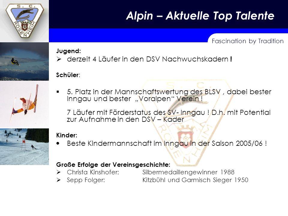 Fascination by Tradition Alpin – Aktuelle Top Talente Jugend: derzeit 4 Läufer in den DSV Nachwuchskadern .