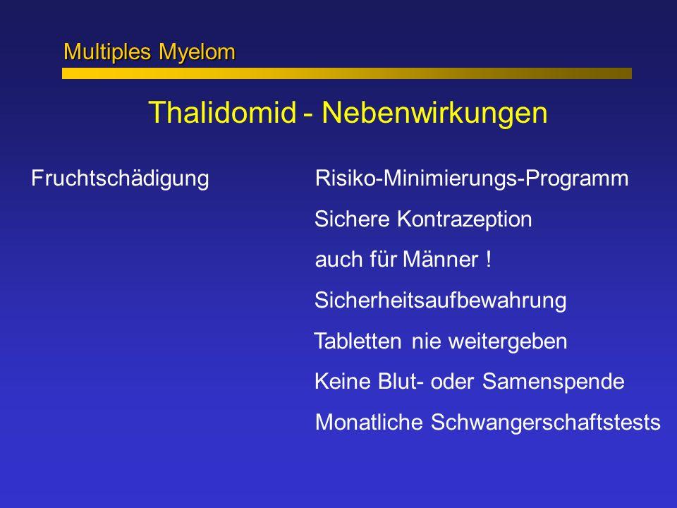 Thalidomid - Nebenwirkungen Fruchtschädigung Risiko-Minimierungs-Programm Sichere Kontrazeption auch für Männer ! Sicherheitsaufbewahrung Tabletten ni