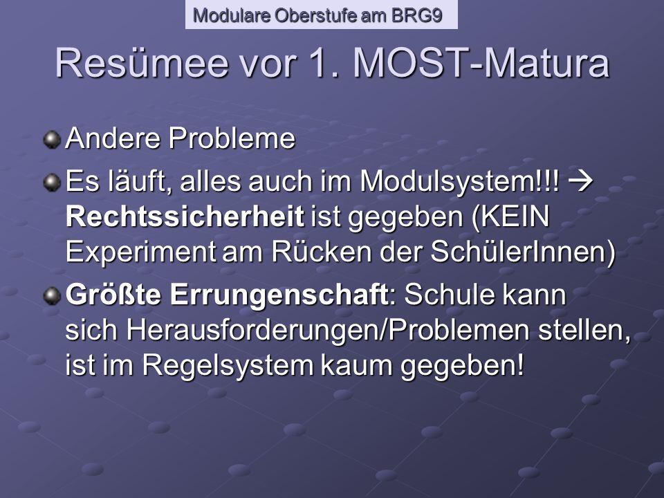Modulare Oberstufe am BRG9 Resümee vor 1.
