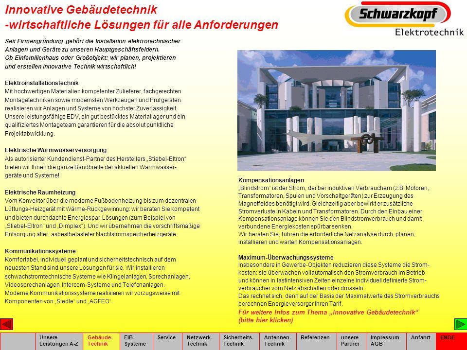 Innovative Gebäudetechnik Photovoltaik.