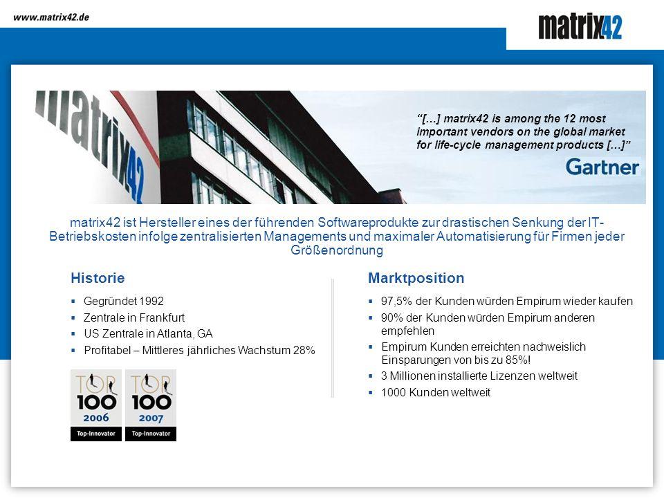 matrix42 ist Hersteller eines der führenden Softwareprodukte zur drastischen Senkung der IT- Betriebskosten infolge zentralisierten Managements und ma