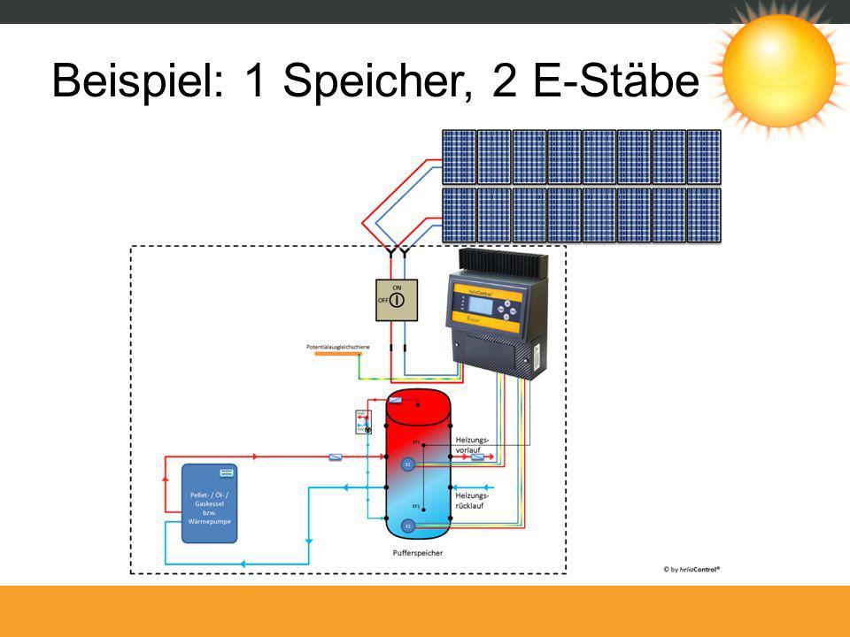 Beispiel: 1 Speicher, 2 E-Stäbe