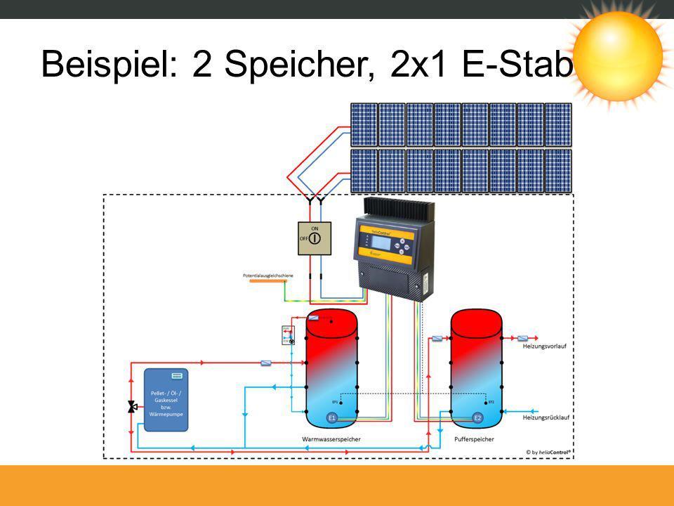 Beispiel: 2 Speicher, 2x1 E-Stab