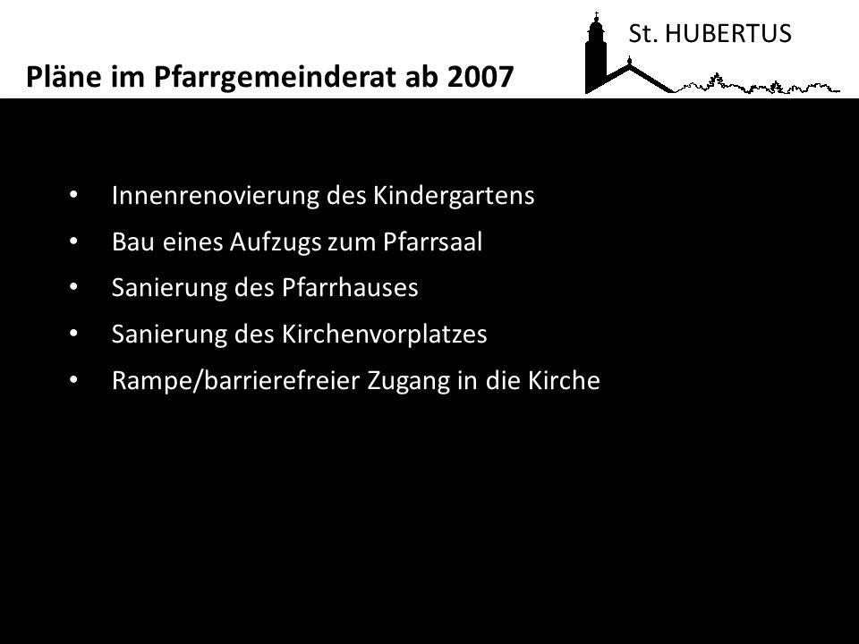 Aufgabe des Pfarrsaales zugunsten einer Erweiterung des Kindergartens um eine 4.