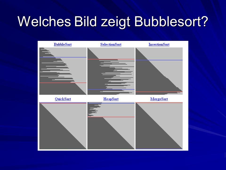 Welches Bild zeigt Bubblesort?