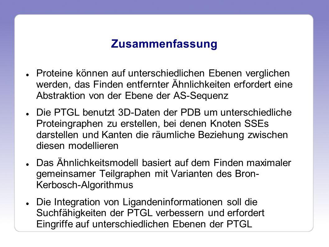 PTGL - Ligandenintegration Vielen Dank für Ihre Aufmerksamkeit!