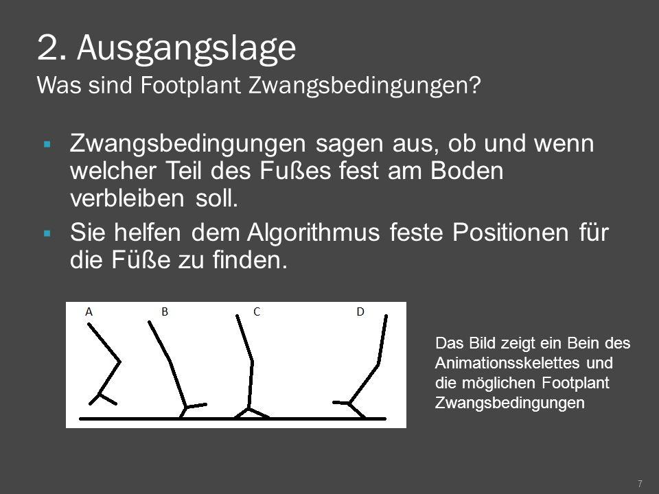 2.Ausgangslage Was sind Footplant Zwangsbedingungen.