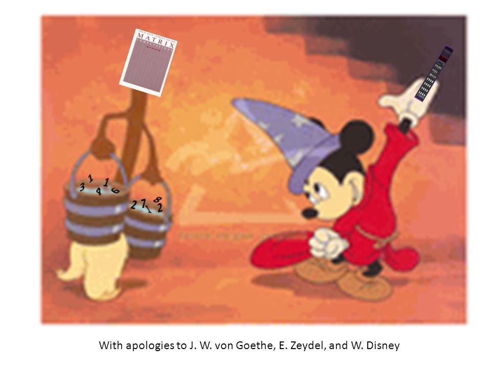 With apologies to J. W. von Goethe, E. Zeydel, and W. Disney