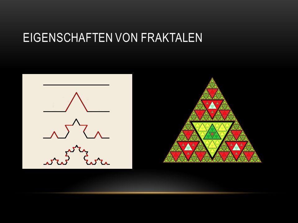 Aus Selbstähnlichkeit und Komplexität ergibt sich, dass Fraktale keiner Dimension eindeutig zugeordnet werden können