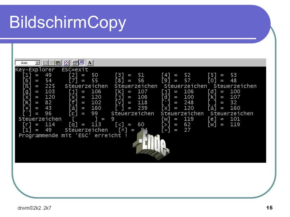drwm©2k2..2k715 BildschirmCopy