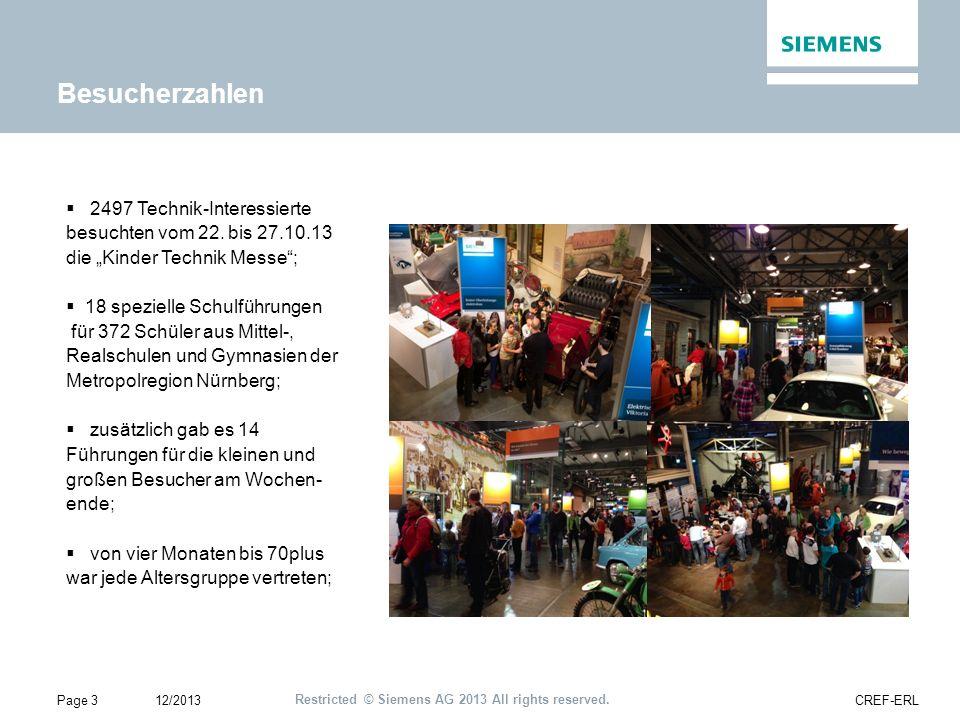 Restricted © Siemens AG 2013 All rights reserved.Themenbereich: Wie bewegen wir uns fort.