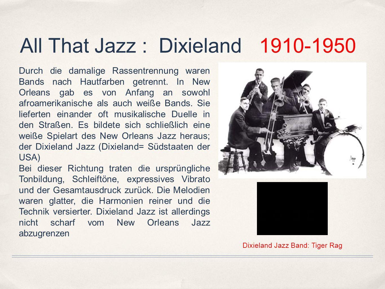 All That Jazz : Chicago 1920-1940 In Chicago fand der New Orleans Jazz bzw.
