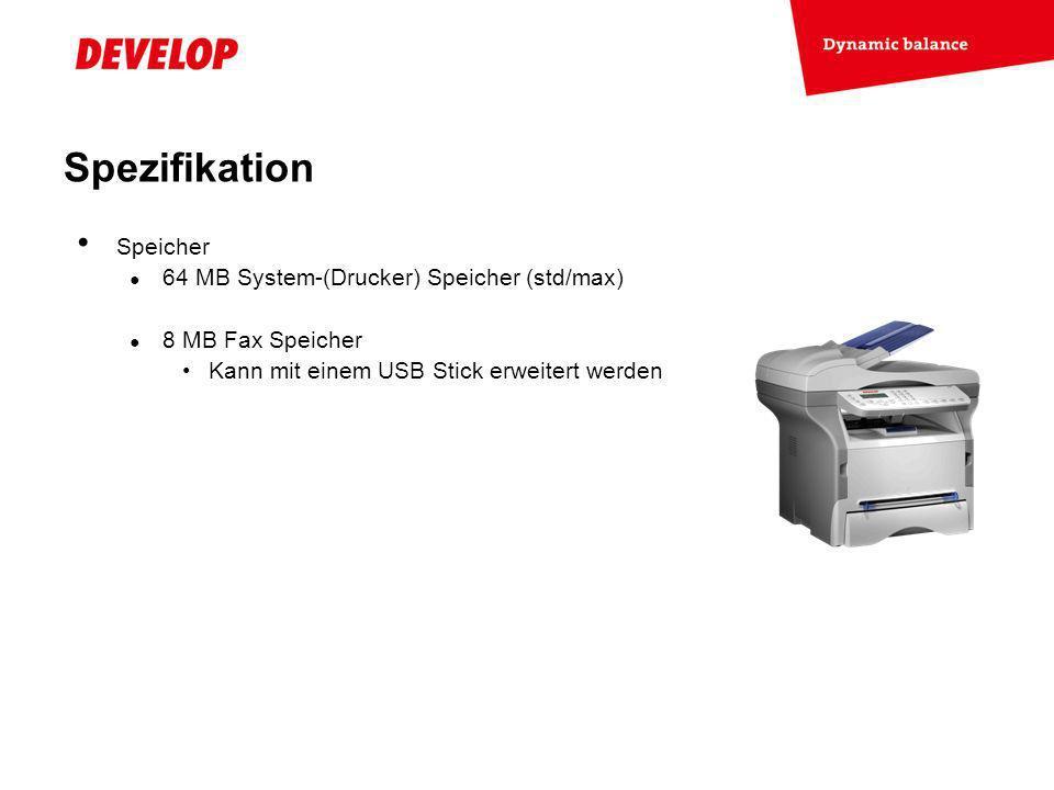 Exchange Meeting Jan 06 – Lars Moderow Speicher 64 MB System-(Drucker) Speicher (std/max) 8 MB Fax Speicher Kann mit einem USB Stick erweitert werden Spezifikation