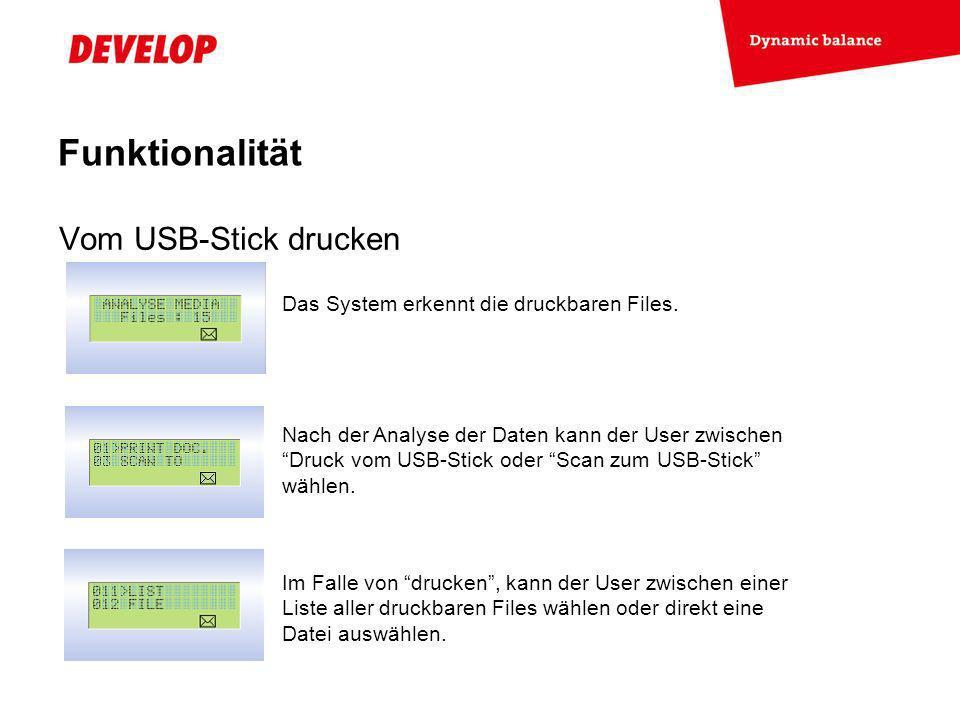 Exchange Meeting Jan 06 – Lars Moderow Vom USB-Stick drucken Funktionalität Das System erkennt die druckbaren Files.
