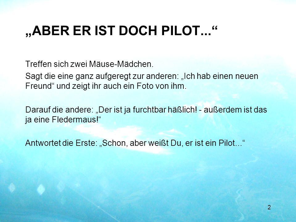ERFAHRENER PILOT... 3 Heute, 21.10.2013